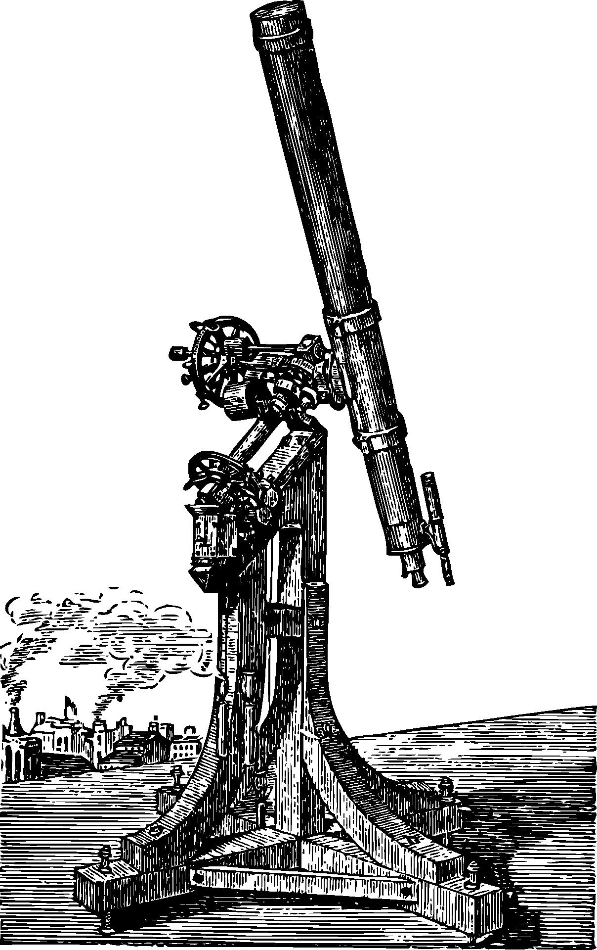 Teleskop gezeichnet