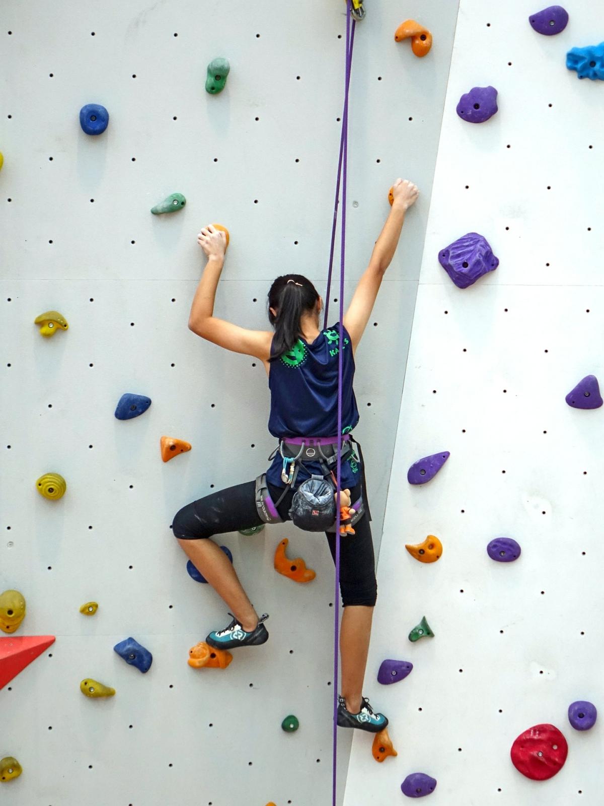 Klettern mit Seil